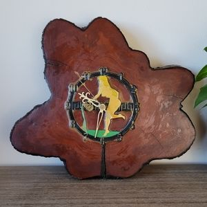 VTG 60s Wood Slab Clock